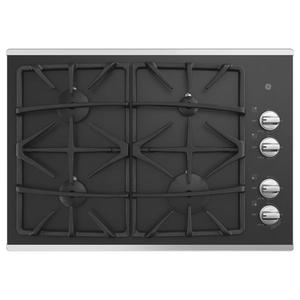 "GE®30"" Built-In Gas on Glass Cooktop with Dishwasher Safe Grates"