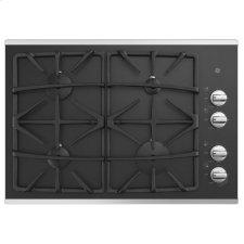 """®30"""" Built-In Gas on Glass Cooktop with Dishwasher Safe Grates"""