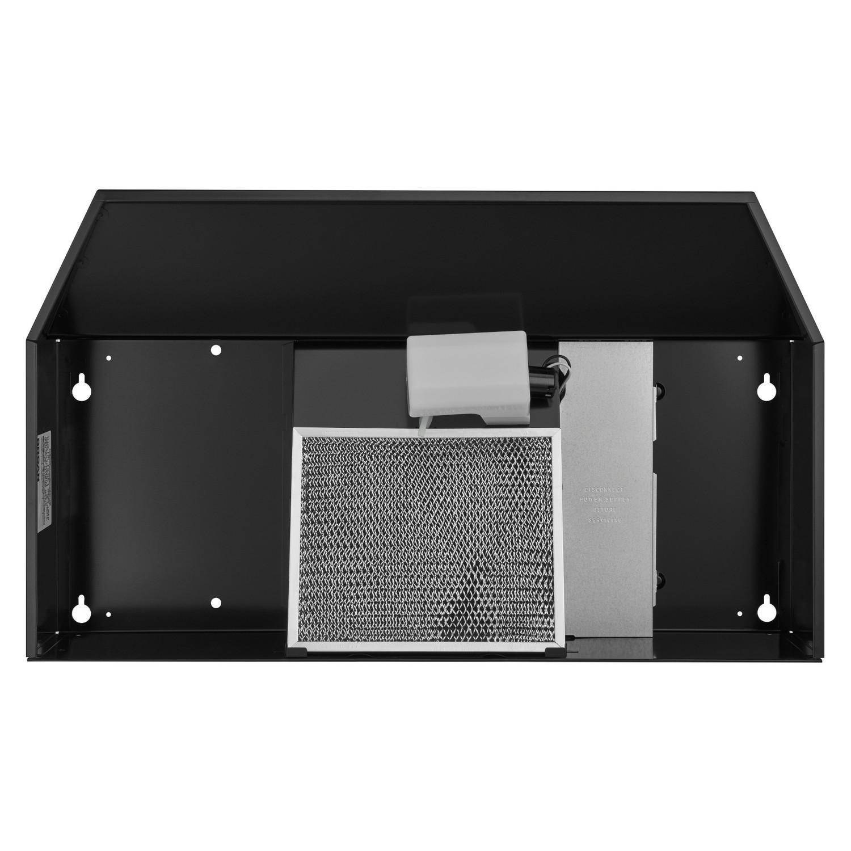 30-Inch Convertible Under-Cabinet Range Hood, 160 CFM, Black Photo #3