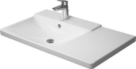 P3 Comforts Furniture Washbasin Asymmetric 3 Faucet Holes Punched