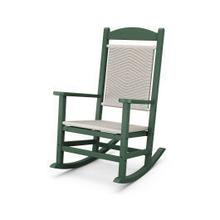 View Product - Presidential Woven Rocking Chair in White Loom