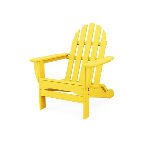 Lemon Classic Folding Adirondack Chair