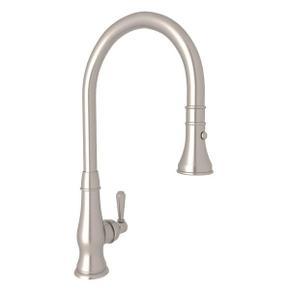 Patrizia Pulldown Bar and Food Prep Faucet - Satin Nickel with Metal Lever Handle