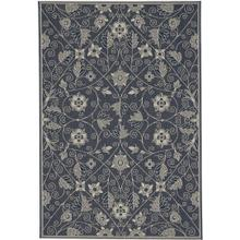 Finesse-Garden Maze Navy Machine Woven Rugs