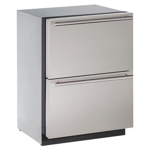 "24"" Refrigerator Drawers With Stainless Solid Finish (115 V/60 Hz Volts /60 Hz Hz)"