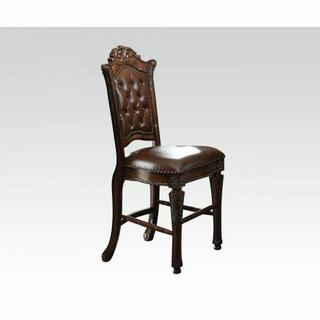ACME Vendome Counter Height Chair (Set-2) - 62034 - PU & Cherry