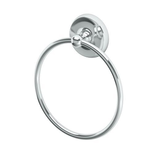Designer II Towel Ring in Matte Black