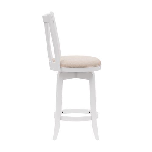Gallery - Savana Wood Counter Height Swivel Stool, White