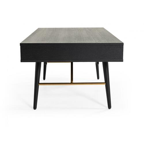 VIG Furniture - Modrest Billy Modern Black Oak & Gold Coffee Table