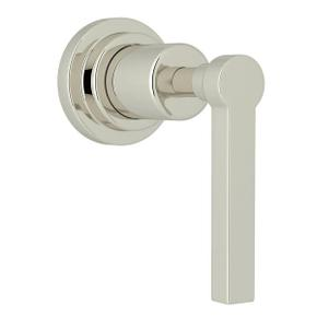 Lombardia Trim for Volume Control and 4-Port Dedicated Diverter - Polished Nickel with Metal Lever Handle