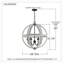 View Product - Carlisle Pendant in Grey Ash