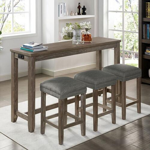 Furniture of America - Caerleon 4 Pc. Counter Ht. Dining Set