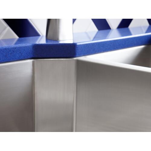 "35-1/2"" X 20-1/4"" X 9-5/16"" Undermount Double-bowl Extra-large/medium Kitchen Sink With Rack"