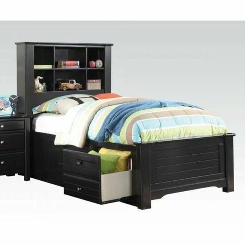 ACME Mallowsea Full Bed w/Storage Rail - 30385F - Black