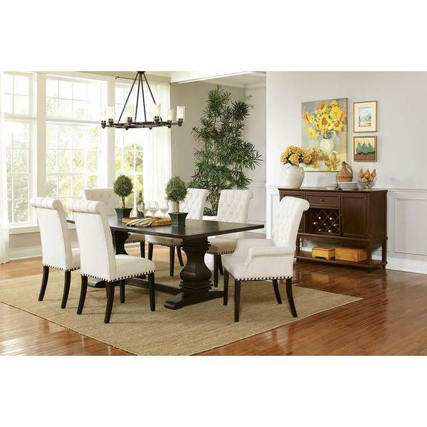 See Details - Parkins Cream Upholstered Dining Arm Chair