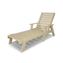 Polywood Furnishings - Captain Chaise with Arms in Sand
