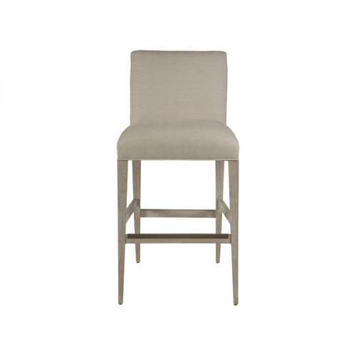 Madox Upholstered Low Back Barstool