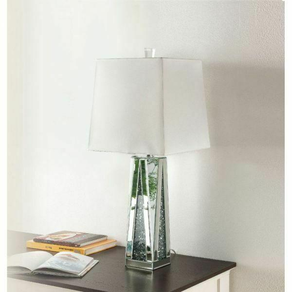 ACME Noralie Table Lamp - 40218 - Mirrored & Faux Diamonds