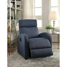 ACME Concha Recliner w/Power Lift - 59347 - Blue Fabric