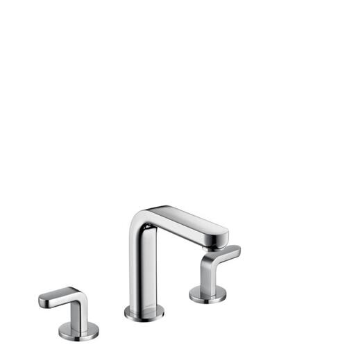 Chrome Widespread Faucet 100 with Lever Handles and Pop-Up Drain, 0.5 GPM