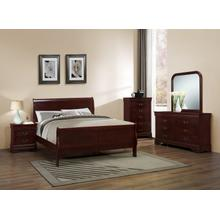 Louis Philippe Cherry Queen 4PC Bedroom Set