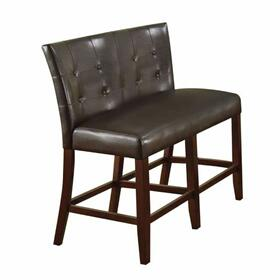 ACME Bravo Counter Height Love Chair (Set-2) - 07252 - PU & Espresso