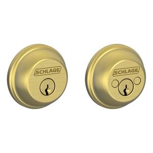 Double Cylinder Deadbolt - Bright Brass Product Image