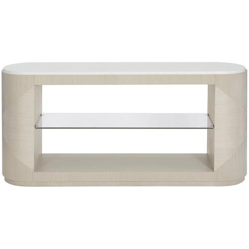 Axiom Console Table in Linear Gray (381), Linear White (381)