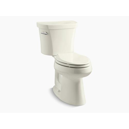 """Kohler - Biscuit Two-piece Elongated 1.28 Gpf Chair Height Toilet With Tank Cover Locks, Insulated Tank and 14"""" Rough-in"""