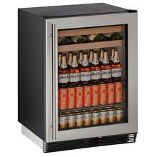 "See Details - 24"" Beverage Center W/ Stainless Door Frame ($200 Rebate Ends June 30th)"