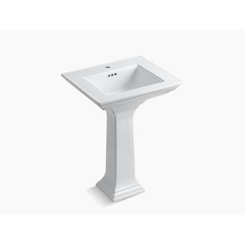 """Almond 24"""" Pedestal Bathroom Sink With Single Faucet Hole"""