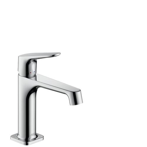 Chrome Single lever basin mixer 100 with pop-up waste set