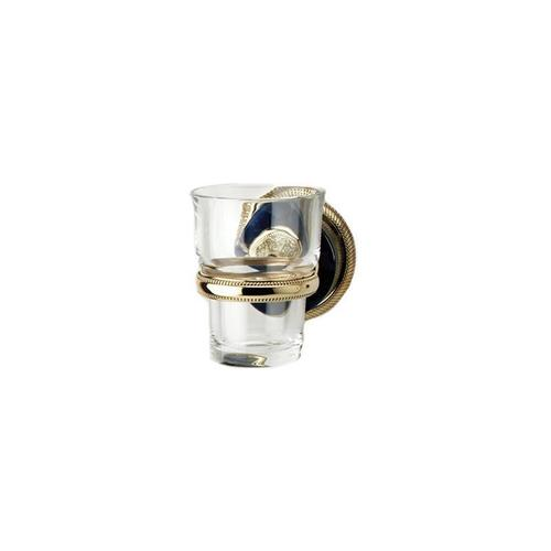 VERSAILLES Wall Mounted Glass Holder KTC30 - Satin Gold with Satin Nickel