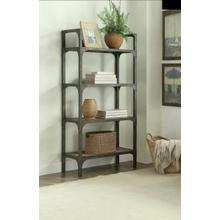 ACME Gorden Bookshelf - 92327 - Weathered Oak & Antique Silver
