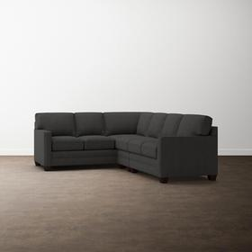 Straw Alexander Track Arm Large L Sectional