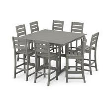 View Product - Lakeside 9-Piece Bar Side Chair Set in Slate Grey