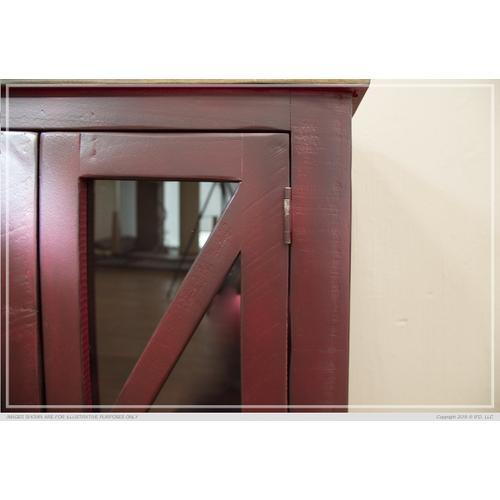 6 Door, Console Red Finish