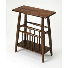 See Details - The perfect blend of style and functionality, this table brings traditional comfort to your home while keeping clutter at bay. It's brown wood top provides the perfect stage for vases and lamps while its lower rack keeps a stack of light reading neatly organized.