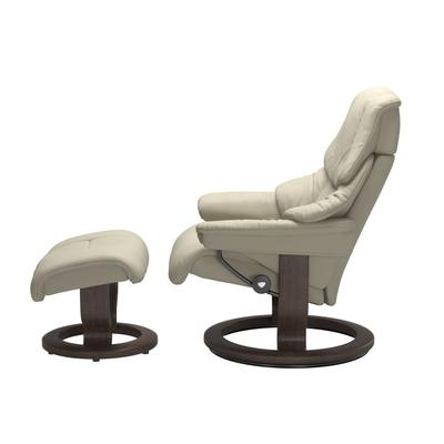 See Details - Stressless® Reno (L) Classic chair with footstool