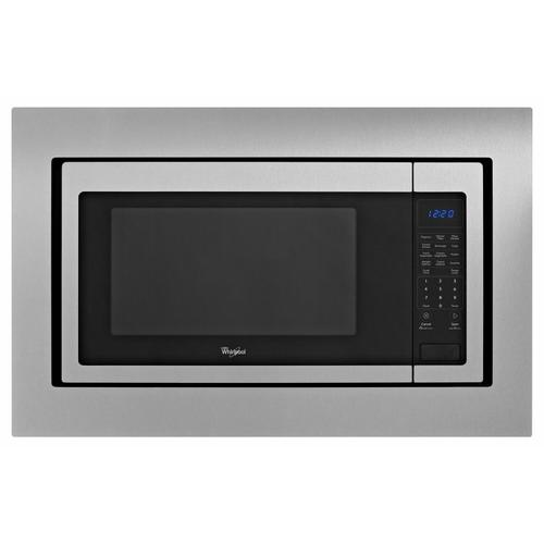 """Gallery - 27"""" Trim Kit for Countertop Microwaves - Black-on-Stainless"""