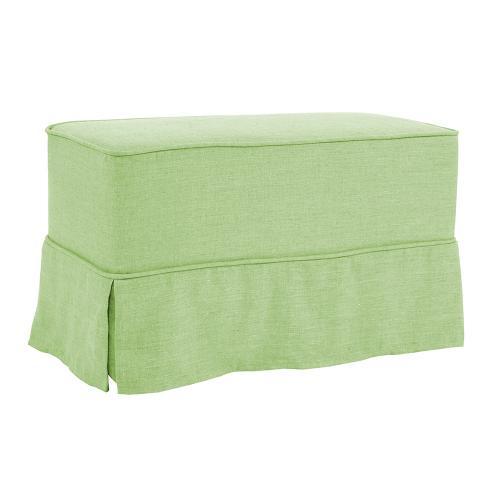 Universal Bench Cover Linen Slub Grass - Skirted