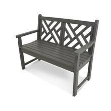 """Slate Grey Chippendale 48"""" Bench"""