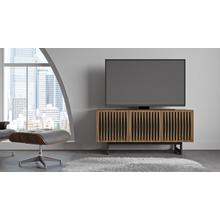 View Product - Elements 8777 Media Media Cabinet in Tempo Doors Natural Walnut