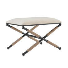 Campaign Accent Stool Linen