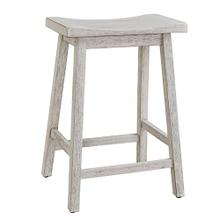See Details - Counter Stool- 2/CTN - Antique White Finish