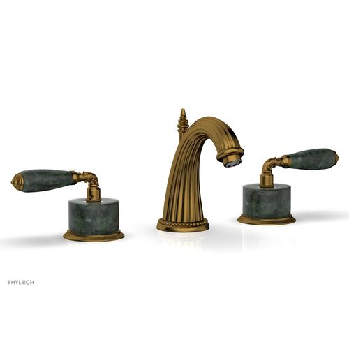 VALENCIA Widespread Faucet Green Marble K338F - French Brass