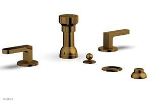 ROND Four Hole Bidet Set 183-61 - French Brass Product Image
