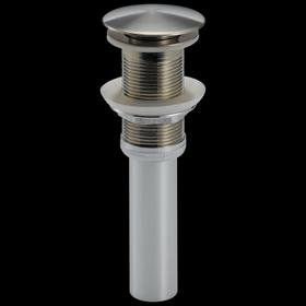 Stainless Push Pop-Up Less Overflow
