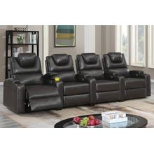 Two Straight Arm Power Recliner