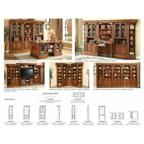 Parker House - HUNTINGTON 32 in. Open Top Bookcase